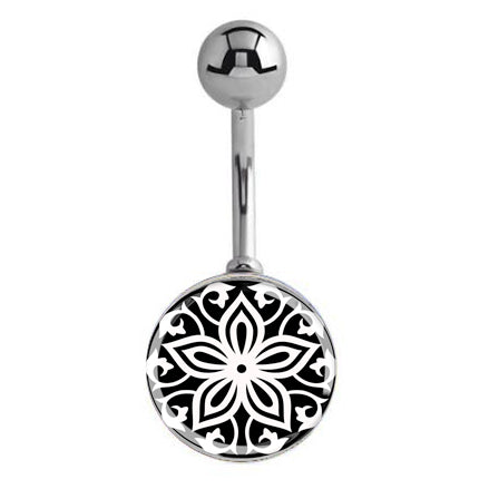 Basic Curved Barbell. High End Belly Rings. Achromatic Fields Belly Bar