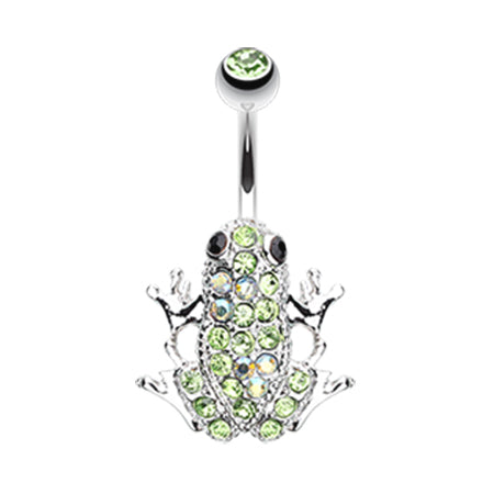 The Amazon Paved Frog Belly Bar - Fixed (non-dangle) Belly Bar. Navel Rings Australia.