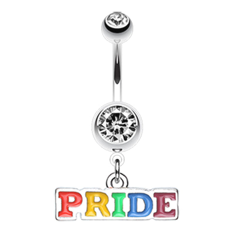 Dangling Belly Ring. Navel Rings Australia. Gay Pride Belly Dangle