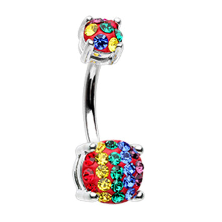 Basic Curved Barbell. Quality Belly Rings. Motley™ of Pride Belly Rings