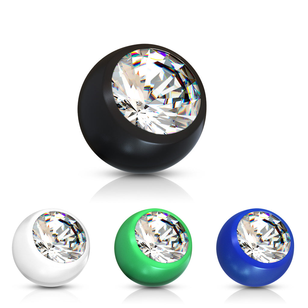 14g Gem Acrylic Replacement Balls for Belly Rings - Replacement Ball. Navel Rings Australia.