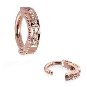 TummyToys® Patented Clasp. Buy Belly Rings. TummyToys® Rose Gold Diamond Pave Sleeper