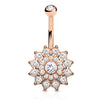 Mandala's Ritz and Glitz Belly Ring in Rose Gold