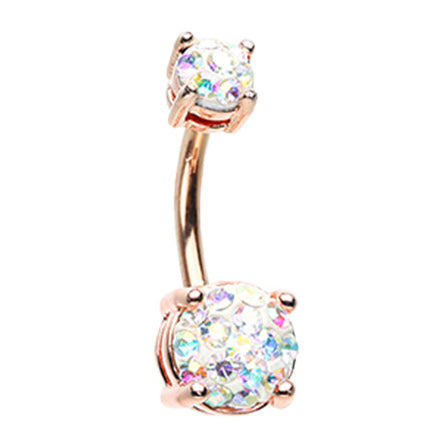 14K White Gold Teardrop Opal Belly Ring