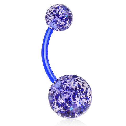 Indigo Blue Sparkle Your GLITTER UltraComfort Belly Bar