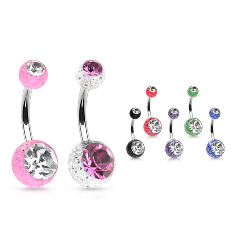 VALUE PACK 6 X Classique Gem Belly Bars - CHOOSE YOUR COLOURS!