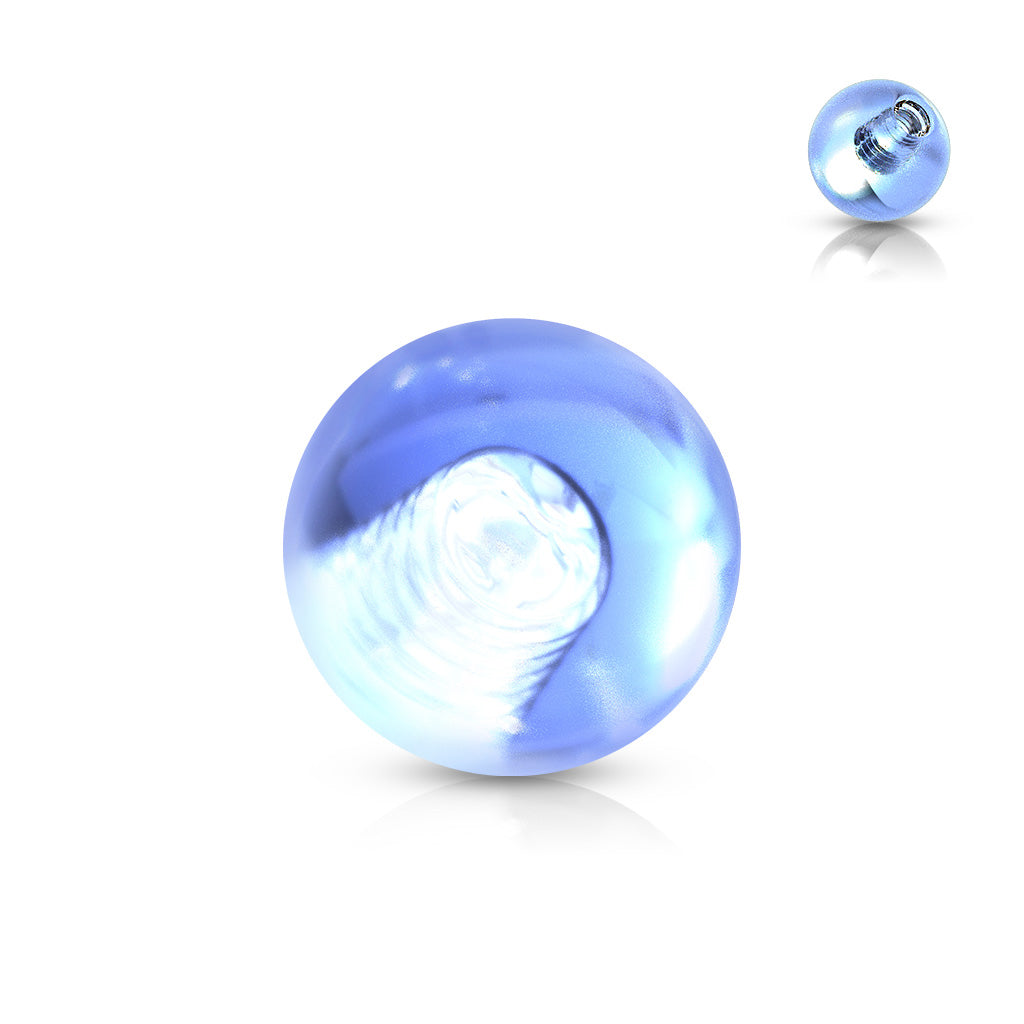 Replacement Ball. Belly Rings Australia. GLOW In The Dark 14g Replacement Balls