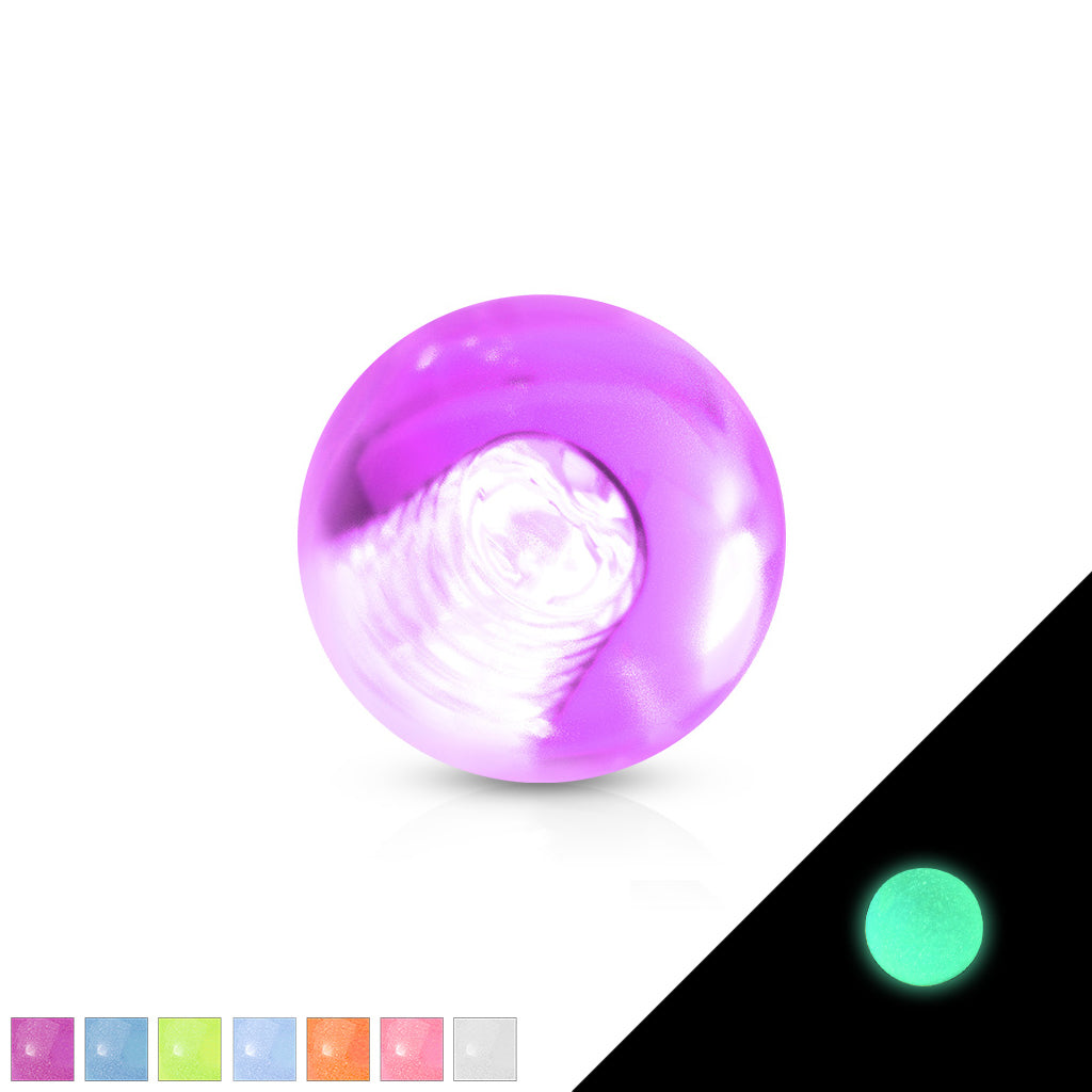 GLOW In The Dark 14g Replacement Balls - Replacement Ball. Navel Rings Australia.