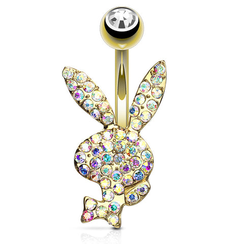 Aurora Borealis Official ©Playboy Motley Belly Rings in Gold