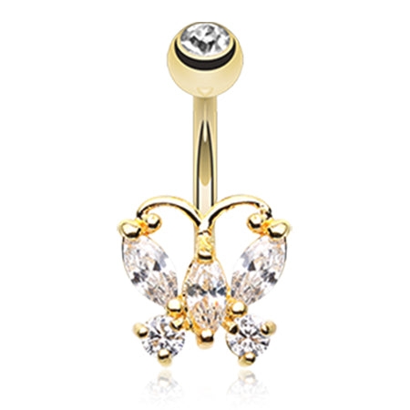 Golden Chandelier Belly Button Ring