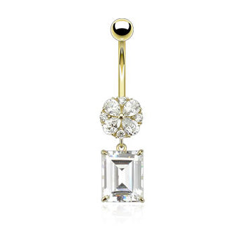 Dangling Belly Ring. Quality Belly Rings. Provincial Très Chic 14K Gold Dangly Belly Ring