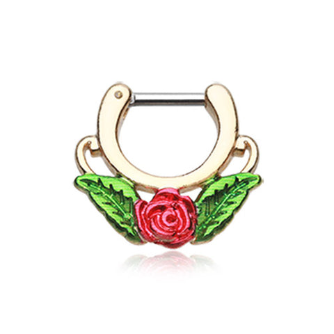 Vintage Style Ruby Rose Belly Dangle – The Belly Ring Shop