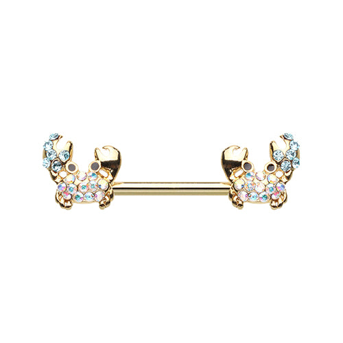 Gold Nipper Sea Crab Nipple Ring - Nipple Ring. Navel Rings Australia.