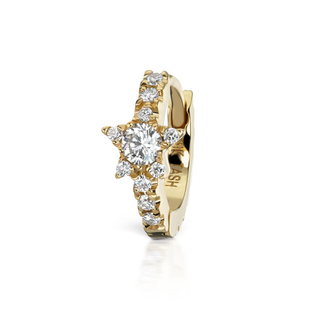 Diamond Star Eternity Earring by Maria Tash in 18K Yellow Gold - Earring. Navel Rings Australia.