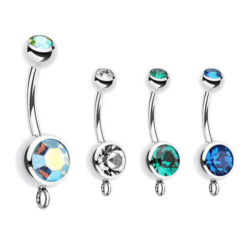 Charm Slave Belly Ring. Belly Bars Australia. Basic Charm Slave Belly Rings