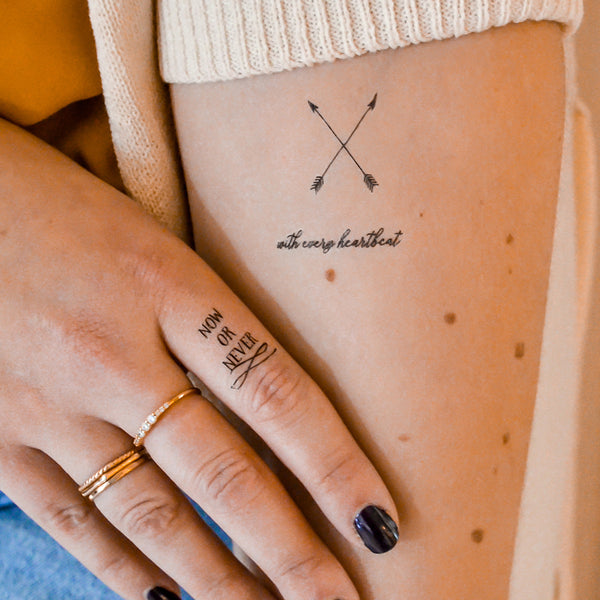 e39c3cb4f Quoted Word Tattoos. Hailey by Flash™ Tattoos. Festival Accessory ...