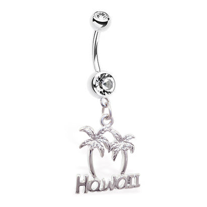 Hawaiian Fantasy Belly Bar - Dangling Belly Ring. Navel Rings Australia.