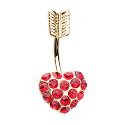 Fixed (non-dangle) Belly Bar. Belly Bars Australia. Le Cupidon Heart Belly Ring