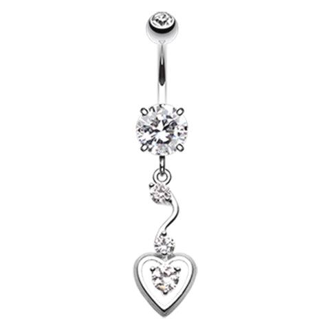 Dangling Belly Ring. Belly Rings Australia. My Sweet Heart Belly Dangle