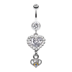 My Lovers Story Belly Dangle - Dangling Belly Ring. Navel Rings Australia.