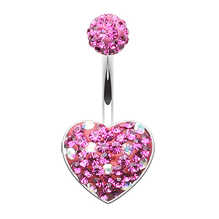 Motleys™ Polka Dot Passion Belly Bar - Fixed (non-dangle) Belly Bar. Navel Rings Australia.