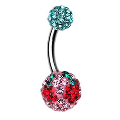 Basic Curved Barbell. Quality Belly Bars. Motleys™ Trippin' Daisy Belly Bar