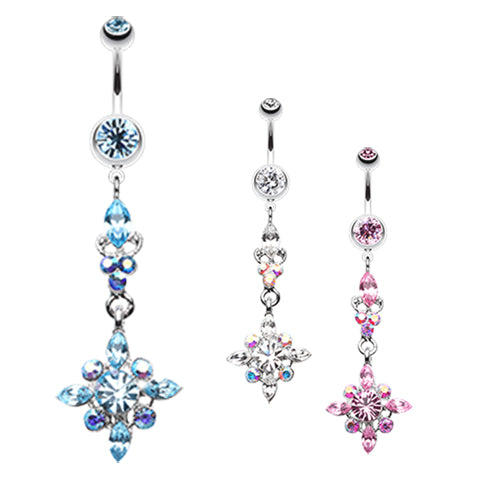 Dangling Belly Ring. Quality Belly Rings. The Icicle Stack Belly Button Ring