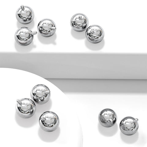 14g Surgical Steel Loose Balls for Belly Rings - Internal Threads - Replacement Ball. Navel Rings Australia.