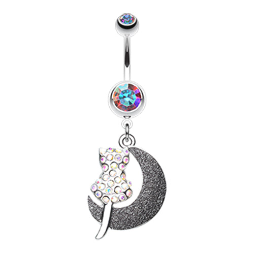 Dangling Belly Ring. Belly Rings Australia. Moonlight Kitty Belly Ring