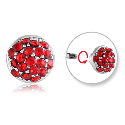 Replacement Ball. Quality Belly Rings. Paint the Town Red Belly Balls