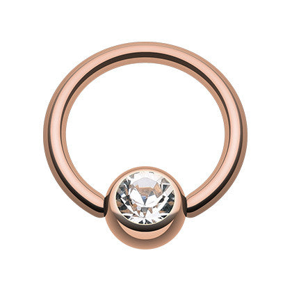 2mm Ball Earring by Maria Tash in 14K Rose Gold. Flat Stud.