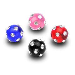 6mm Acrylic Gem Paved Replacement Balls