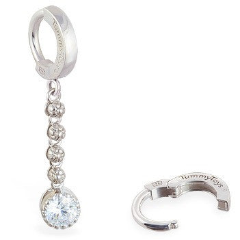 TummyToys® Patented Clasp. Cute Belly Rings. TummyToys® Flower Chain Navel Bar