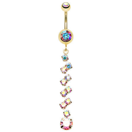 Dangling Belly Ring. Belly Rings Australia. Golden Zee Zee Journey Navel Ring