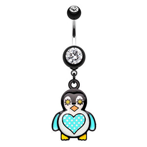 Chubba Wubba Penguin Navel Ring - Dangling Belly Ring. Navel Rings Australia.