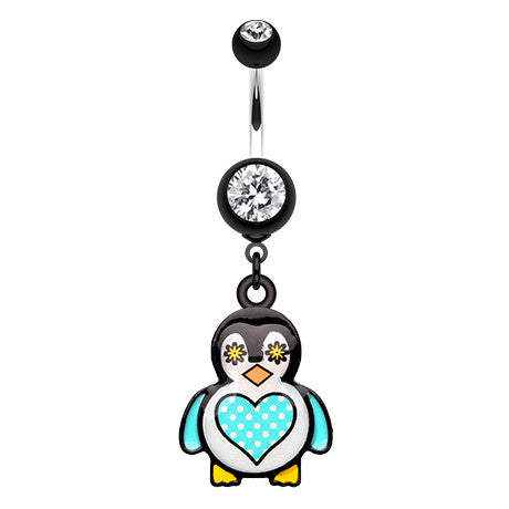 Dangling Belly Ring. High End Belly Rings. Chubba Wubba Penguin Navel Ring