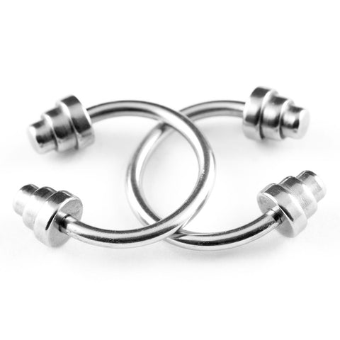 Circular Barbell / Horse Shoe. Quality Belly Rings. Dumbbell Circular Barbell