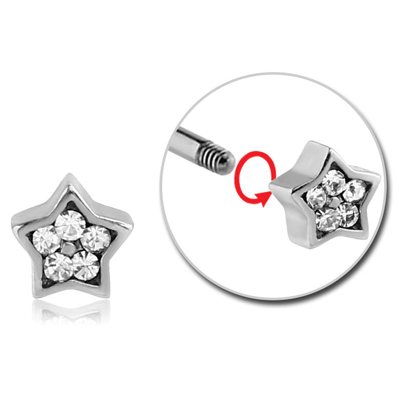 16g Twinkle Little Star Body Jewellery Ball - Replacement Ball. Navel Rings Australia.