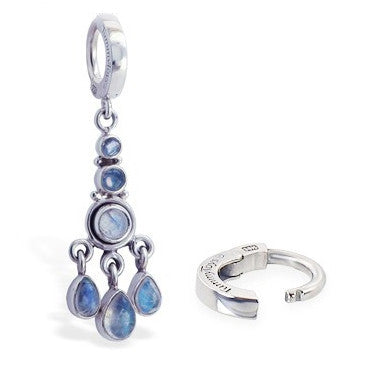 TummyToys® Patented Clasp. Quality Belly Rings. TummyToys® Boho Moonstone Huggy