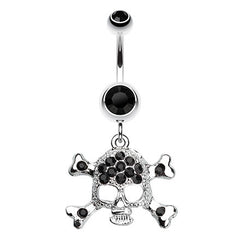 The Doomed Skull Navel Bar Dangle