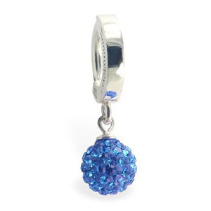 TummyToys® 925 Silver Motley™ Huggy - TummyToys® Patented Clasp. Navel Rings Australia.