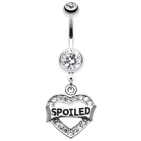 Spoilt Diva Belly Piercing Ring - Dangling Belly Ring. Navel Rings Australia.