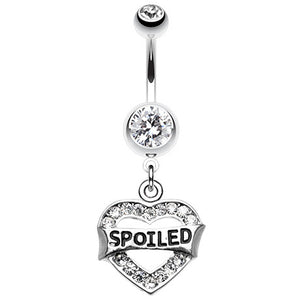 Spoiled Diva Belly Piercing Ring - Dangling Belly Ring. Navel Rings Australia.