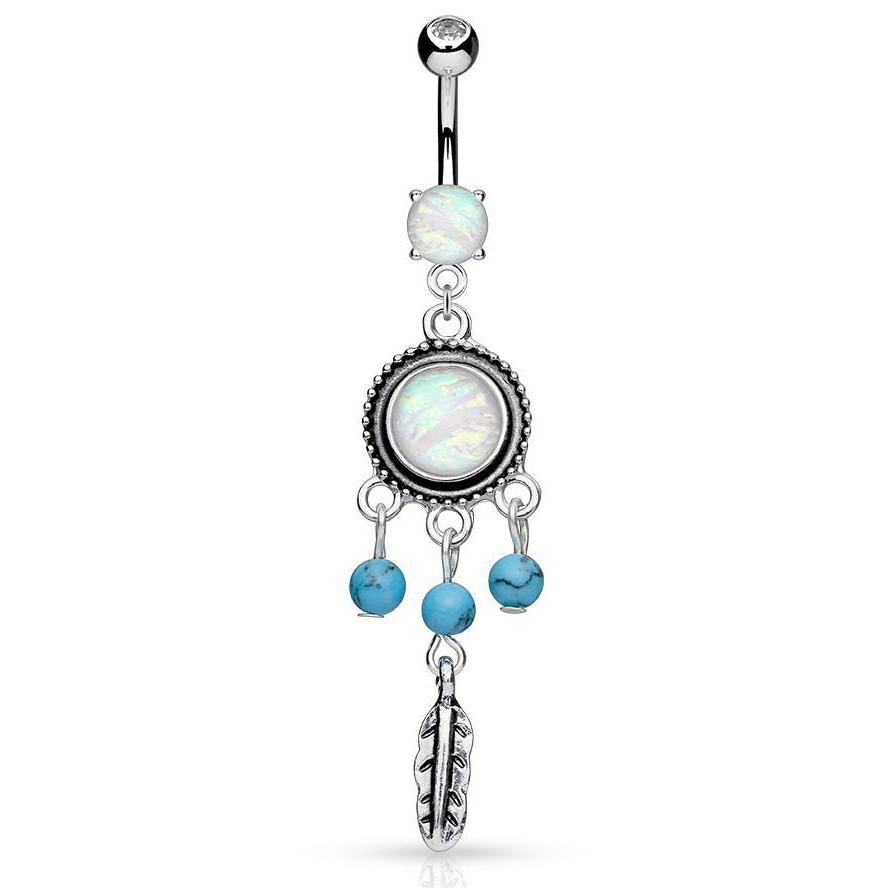 Susvapna Opal Dreams Belly Piercing - Dangling Belly Ring. Navel Rings Australia.