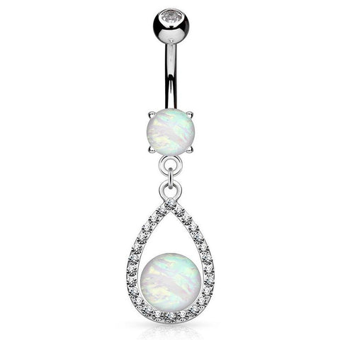 Dangling Belly Ring. Buy Belly Rings. Opal Upala Belly Button Ring