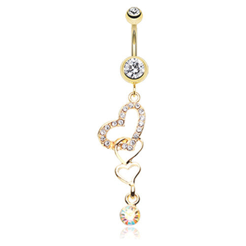 You. Me. Us. Heart Belly Ring - Dangling Belly Ring. Navel Rings Australia.