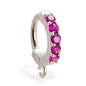 TummyToys® Patented Clasp. Cute Belly Rings. TummyToys® Pink Claw Charm Slave