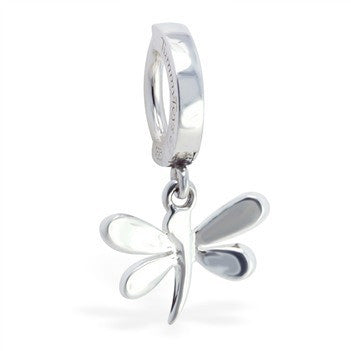 TummyToys® Silver Dragon Fly Clasp - TummyToys® Patented Clasp. Navel Rings Australia.