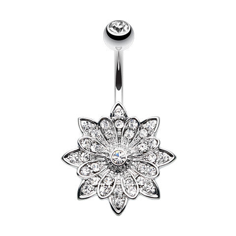 Astrid's Rose Gold Tantalising Bloom Belly Ring