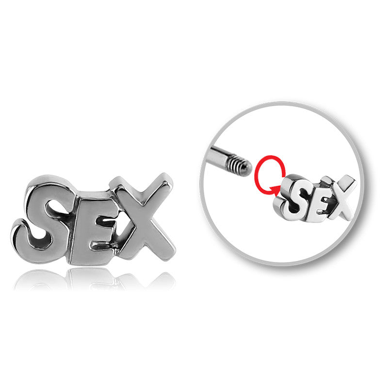 Sex Text Belly Balls - Replacement Ball. Navel Rings Australia.